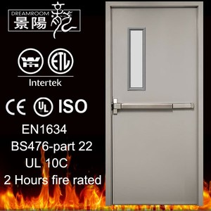 UL 3 hours Fire rated steel doors with vision panel