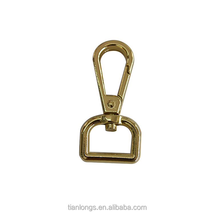 Znic alloy small d ring snap hook buckle with any color