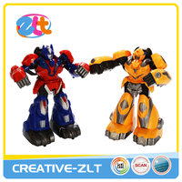 Newest 2pcs rc toy fighting robot with sound and light