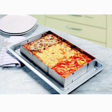 Stainless Steel Adjustable Rectangle Baking Mold Frame Scalable Mousse Tiramisu Cake Ring with Divider