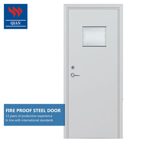 manufacturer fire rated metal doors prices BS EN 30mins fireproof external special fire doors with vision panel
