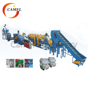 Waste plastic bottle recycling machine / pp pe hdpe flakes washing recycling line