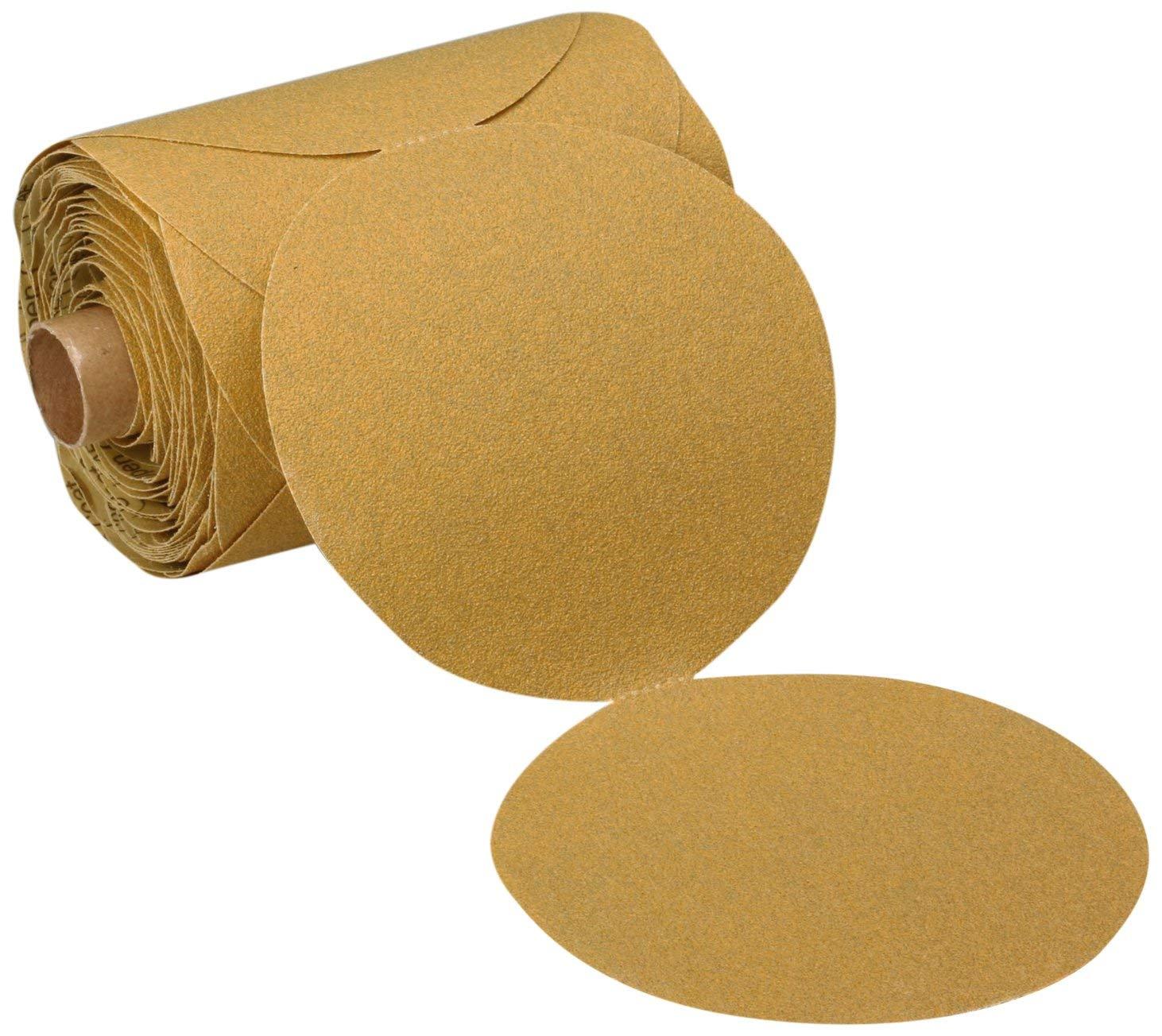 "3M Stikit Paper Disc Roll 363I, PSA Attachment, Aluminum Oxide, 5"" Diameter, 80 Grit (Roll of 100)"