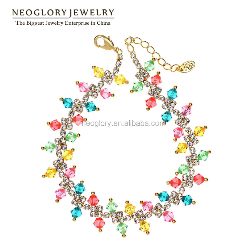 Neoglory Austrian Crystal Auden Rhinestone Fashion Bangles & Bracelets 14K Gold Plated Jewelry Accessories 2016 New