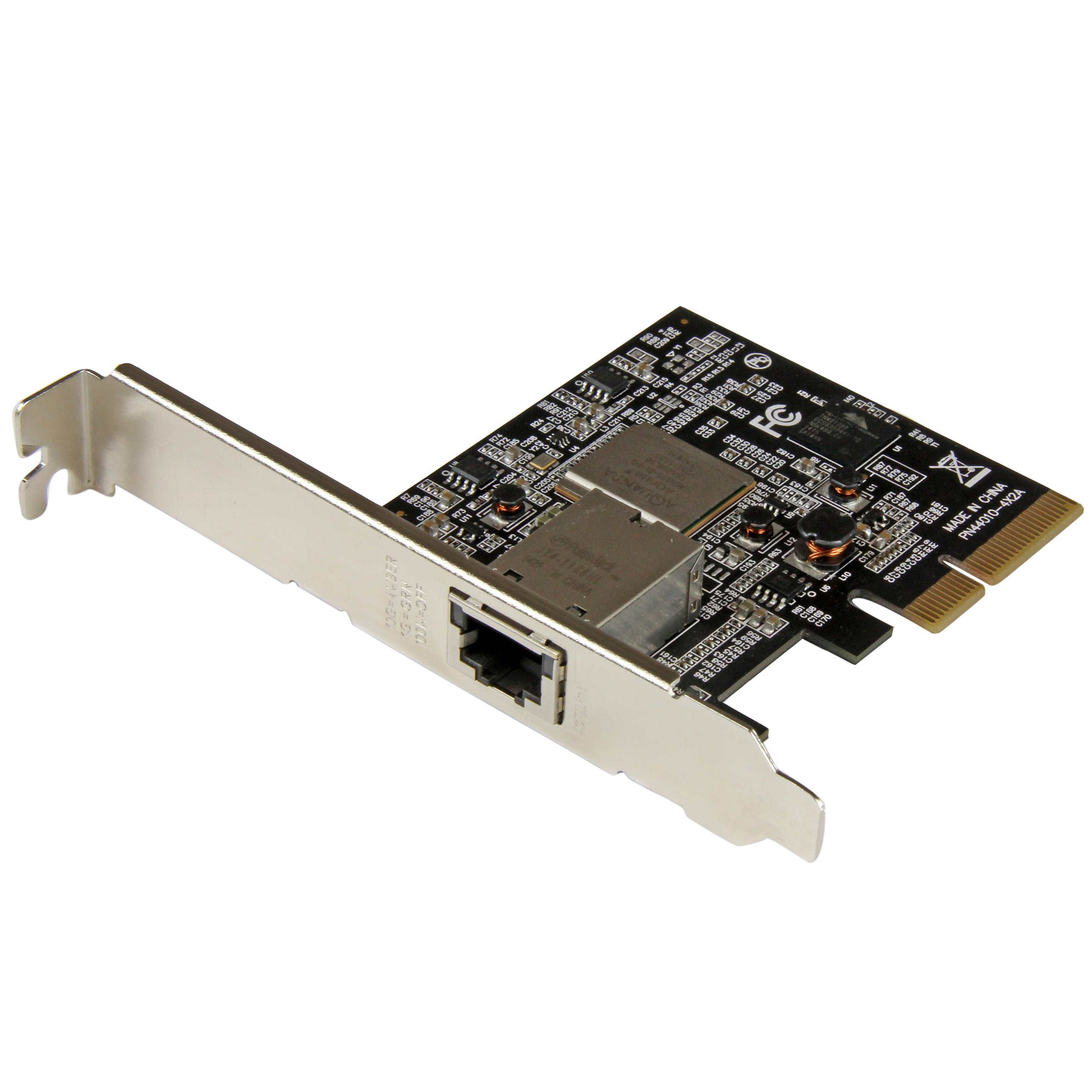StarTech.com ST10GSPEXNB 1 Port PCI Express 10GBase-T / NBASE-T Ethernet Network Card, 5-Speed, PCIe 2.0 x4