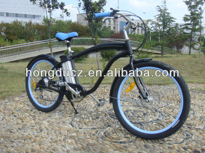 250w lithium batterie chopper fahrrad beach cruiser. Black Bedroom Furniture Sets. Home Design Ideas