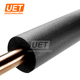 soft acoustic insulation black rubber foam tube nitrile plastic round solar pipe insulation solid tubes sound absorption