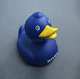 Custom wholesale blue rubber duck with logo