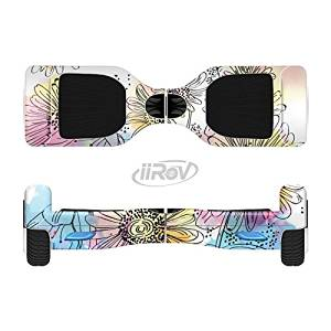 The Colorful WaterColor Floral Full-Body Wrap Skin Kit for the iiRov HoverBoards and other Scooter (HOVERBOARD NOT INCLUDED)