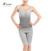 S-SHAPER Women Fiber Charcoal Slim Full Body Shaper Tourmaline Bamboo Body Suit