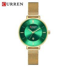 Женские часы CURREN, модные кварцевые часы из нержавеющей стали с сетчатым ремешком, аналоговые, повседневные, 2020(Китай)