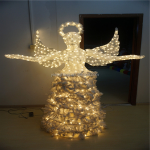 3D Christmas golden winged angel , elegant golden winged angel, Christmas elegant angel