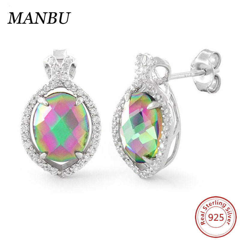 HOT SELLING!! fashion design cz stone silver earring settings, wholesale 925 sterling silver earring for women