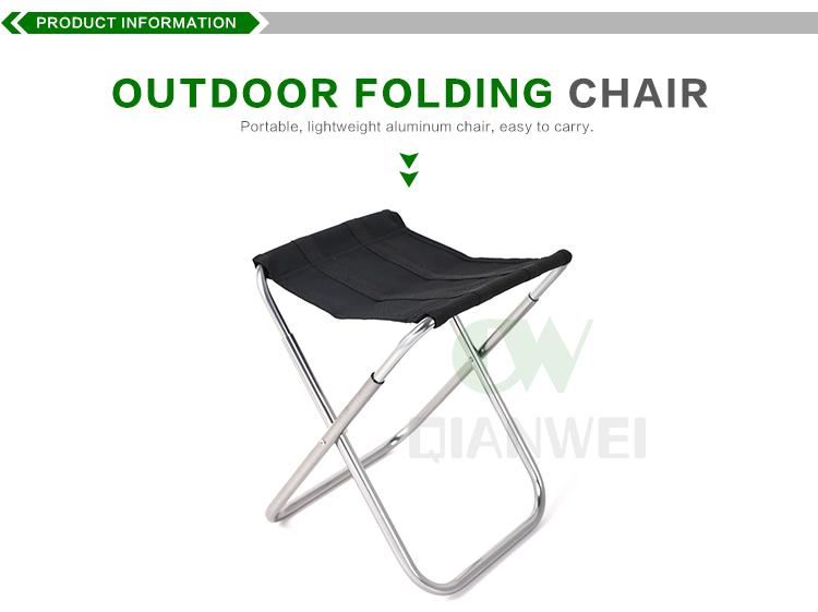 Lger Facile Transporter Mini Tlescopique Petit Pique Nique En Mtal Pliable Pche Camping Chaise Pliante