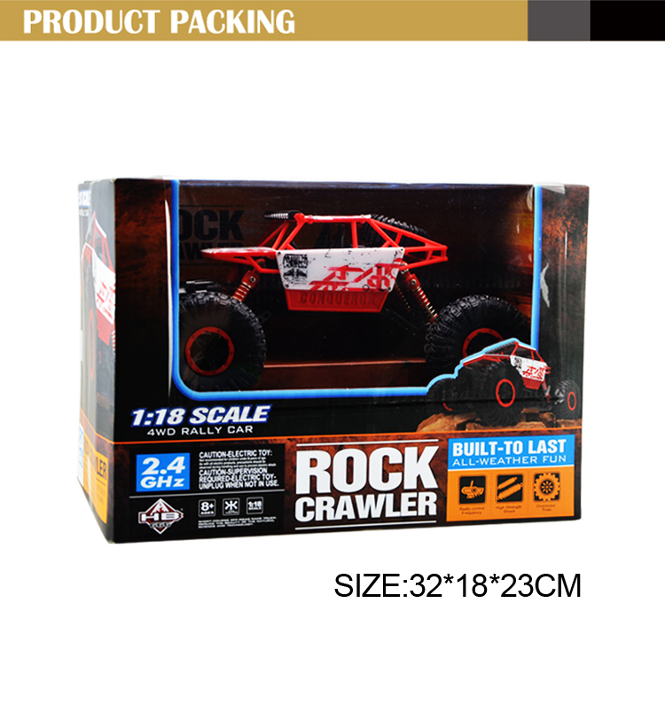 2017 New 1:18 rc rock crawler for rugged off-road action