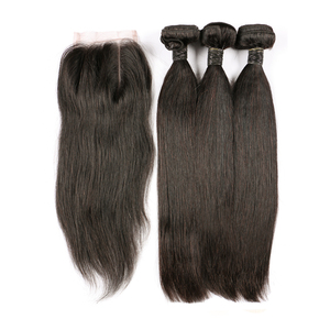 Emerald 3+1 no shedding virgin brazilian straight human hair Lace Closure