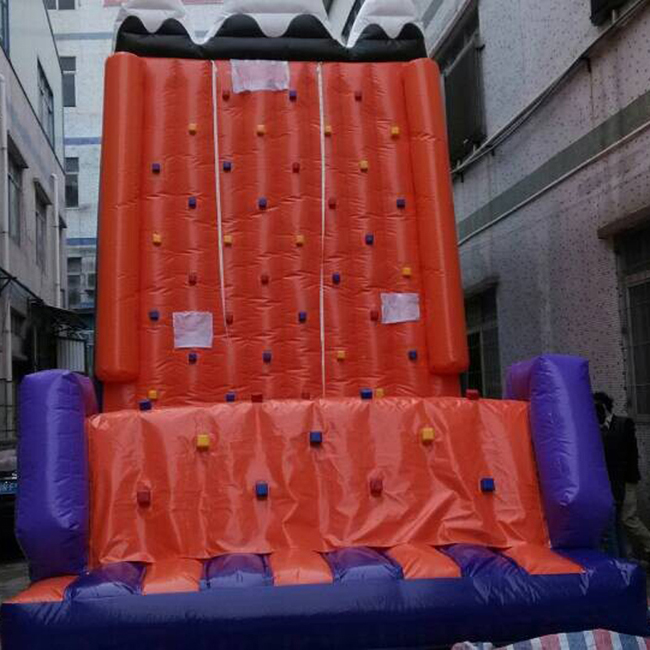 High quality inflatable rock climbing wall with ladder climb
