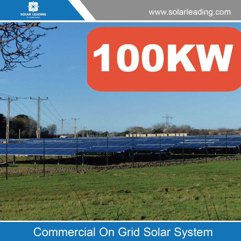 Easy installation 100KW commercial solar power system include off grid solar pv modules also with inverter solar