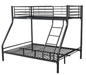 Wholesale Iron Frame Twin Over Full Metal Bunk Beds KD structure