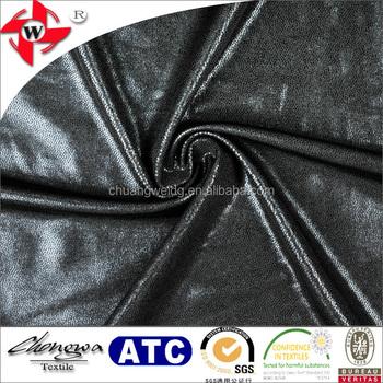 Chuangwei Textile lycra 2 maneira stretch wet look leatherette tissu pour  leggings avec noir PVC matériel 160904697cb