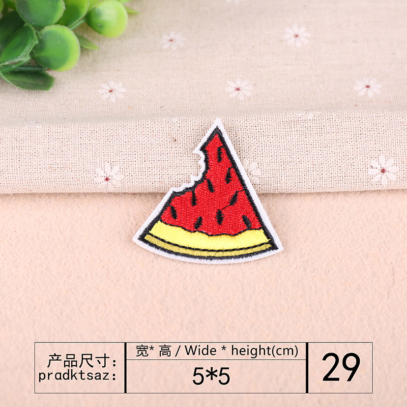 foods iron on embroidery patches,all kinds of food badges,pizza hamburger appliques