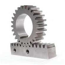 White Zinc Plated CNC Steel Gear Rack