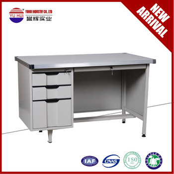 Metal Computer Desk/office Table With Computer Keyboard Tray - Buy ...