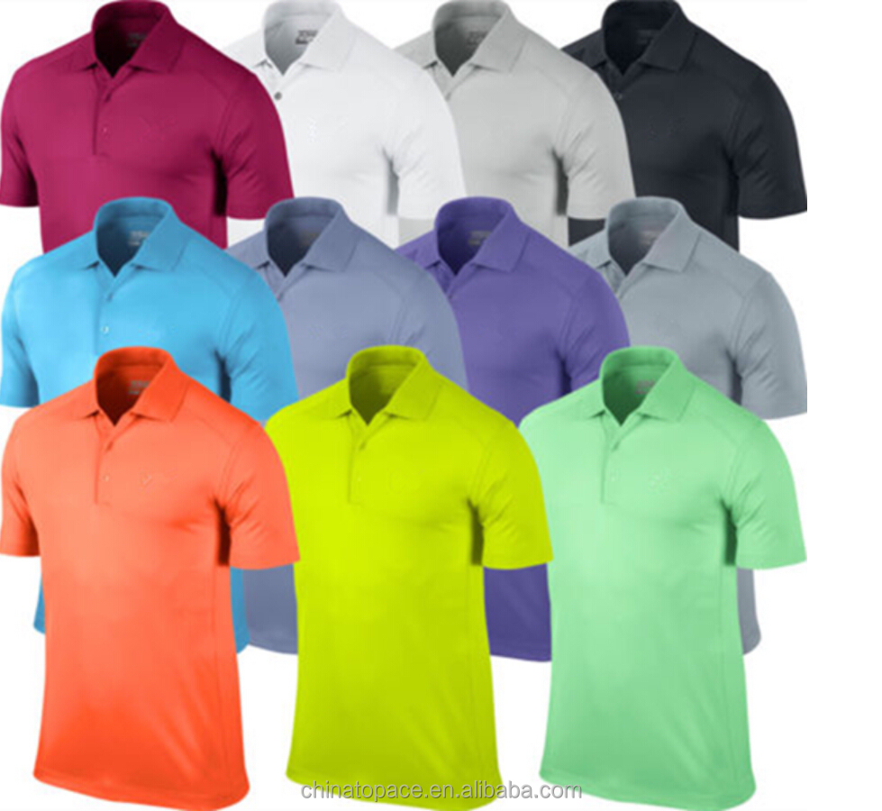 Custom men's wholesale 100 polyester polo shirt for men, high quality blank multi color cheap golf polo shirt dry fit