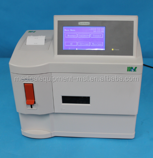 Medical hospital clinic blood gas Electrolyte Analyzer MSLEA01 with CE approves