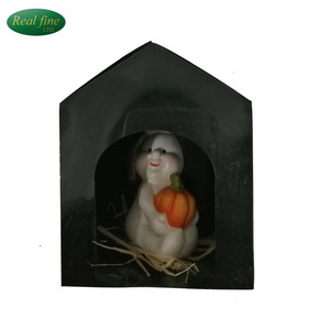 dark halloween decorations porcelain dolls and pumpkins with led light