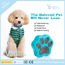 Yiwen 3G WCDMA 2G GSM Making Supplies Smart Night-activated LED Pet Dog Cat Mini GPS Alarm Collar Tracker GV30
