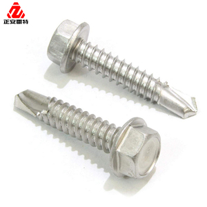 LEITE Metal Roofing Screws x 1-1/2 Painted Hex Washer Self Tapping Metal to Wood Sheet Siding EPDM Zinc