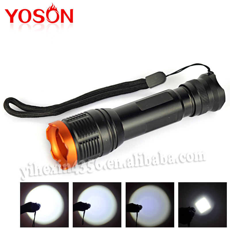 Manufacture Mini LED Flashlight Adjustable Torch Light