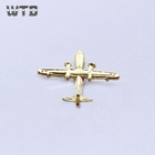 Custom private design 3d aircraft model gold badges