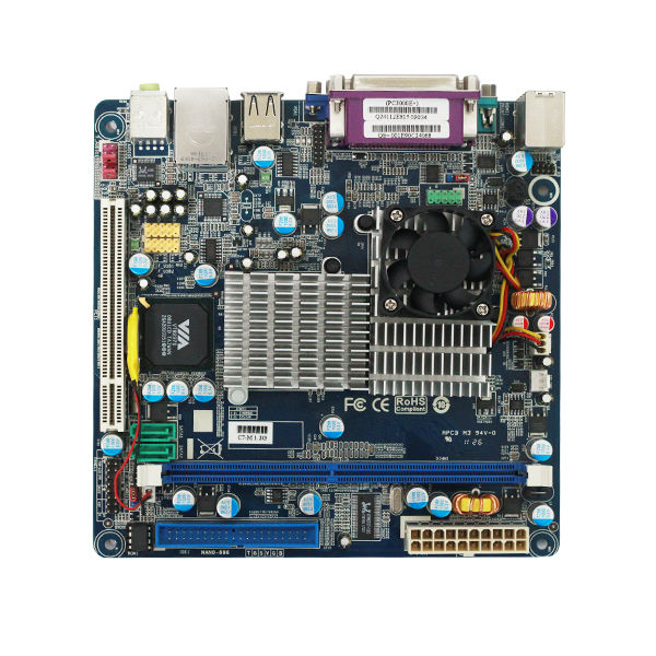 DDR2 Ram Compatible Socket 370 Motherboard with VIA C7-D 1.6GHz CPU/FSB800