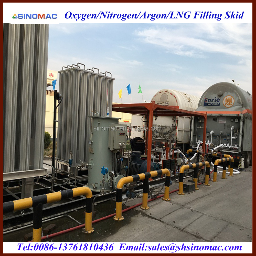 Cryogenic Liquid LCO2/Nitrogen/Argon Filling Skid-Mounted