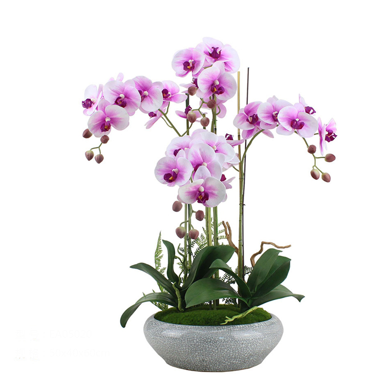 factory wholesale cheap plastic artificial butterfly orchids red orchids decorative <strong>flowers</strong>