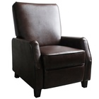 Dark Brown Mid Centry Style Simple Design Push Back Recliner Chair for Home