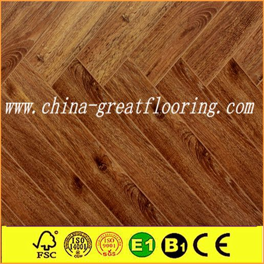 12mm e1 easy do-it-yourself install herringbone laminate flooring