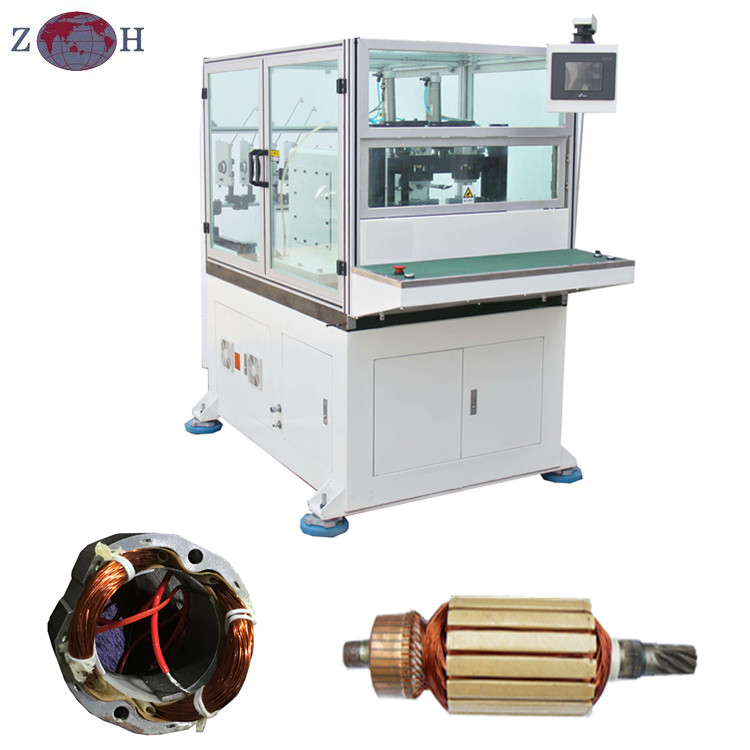 Automatic power tool stator rotor winding machine for power tool motors