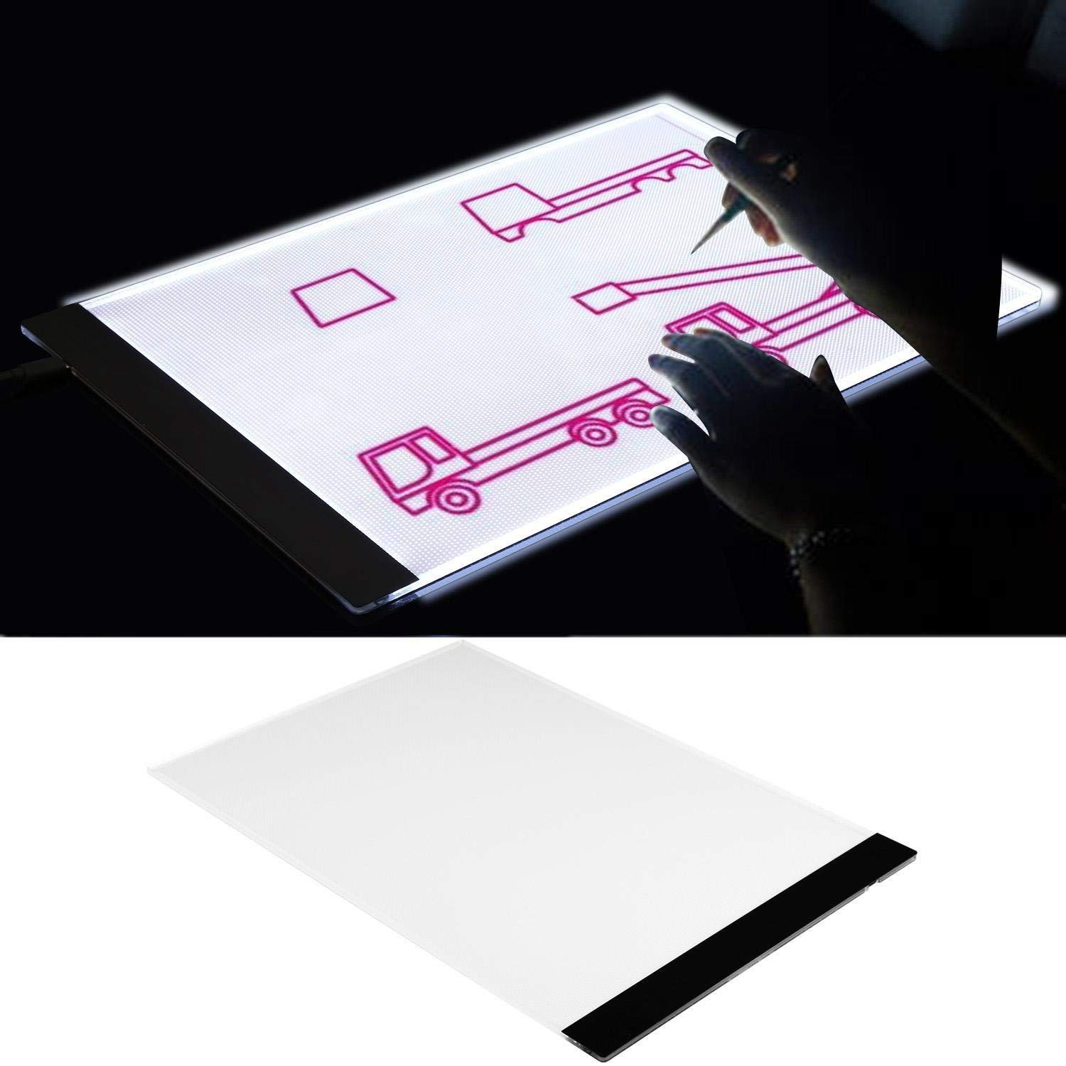 Utheing LED A4 Tracing Light Box – Art Supplies – Light Table Pad Board Box – Kids Crafts – Light Table – Light Pad – Tracing Light – Tracing Pad – Tracing Board – Tracing Box
