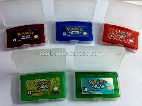 Free Shipping by DHL for GBA SP Pokemon Games Sapphire/Emerald /FireRed/Leaf Green/Ruby