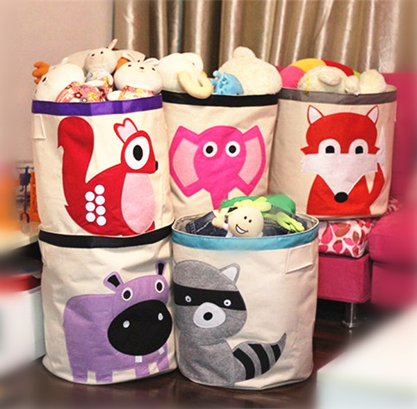 cestas de armazenamento de beb algod o dos desenhos animados caixa de armazenamento de. Black Bedroom Furniture Sets. Home Design Ideas