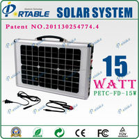 15W portable battery operated generator