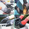 NMSAFETY chemical resistant Working Nitrile Coated Gloves /safety gloves surperior grip performance