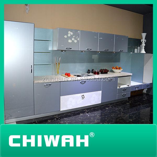 Gesneden houten keuken kast deuren hoogglans grijze kleur-keuken ...