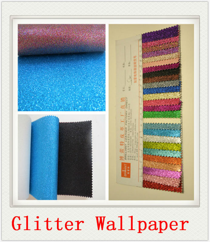 Hoge kwaliteit goedkope 3d behang home decoratie glitter for Cheap glitter wallpaper