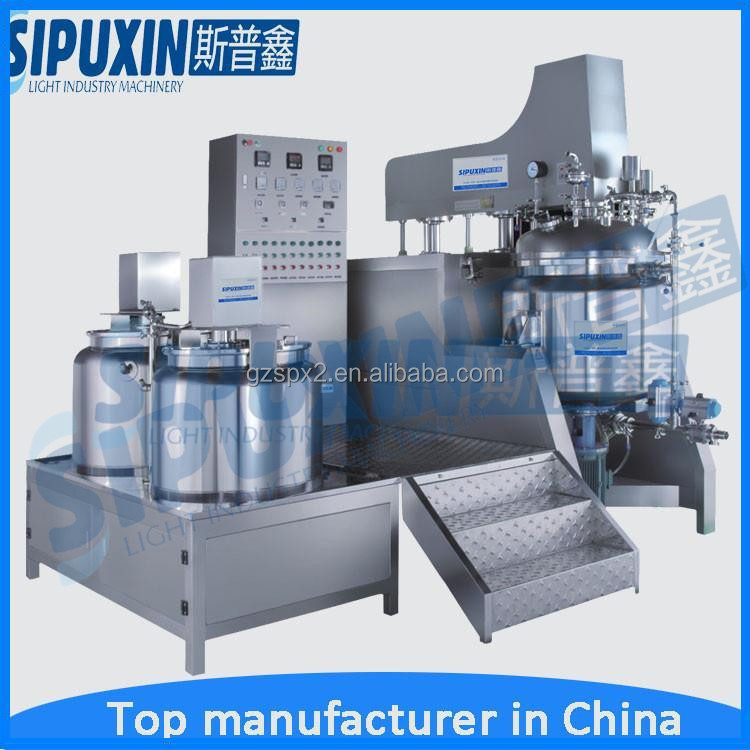 Factory Supplier homogenizer vacuum lifted shampoo emulsifier mixer with Good Service