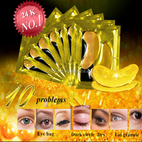 High quality pure gold collagen eye mask for eyebag,dry eyes treatment