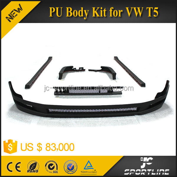 (Front Lip, Side SKirts, Rear Lip, rear splitter ) PU Body Kit For VW Caravelle Transporter T5 2009 UP